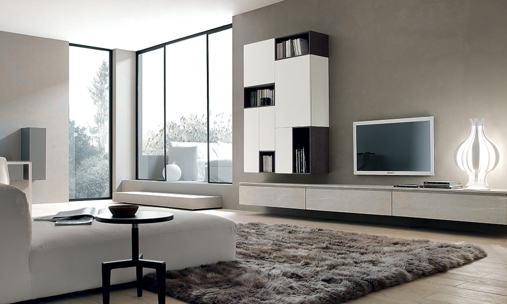 Living moderni e di design modulnova md home for Immagini living moderni